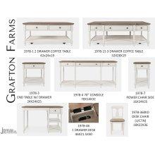 Grafton Farms 2 Drawer Coffee Table