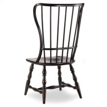 Dining Room Sanctuary Spindle Side Chair-Ebony