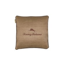 Embroidered Marlin 20 Lux Down Throw Pillow