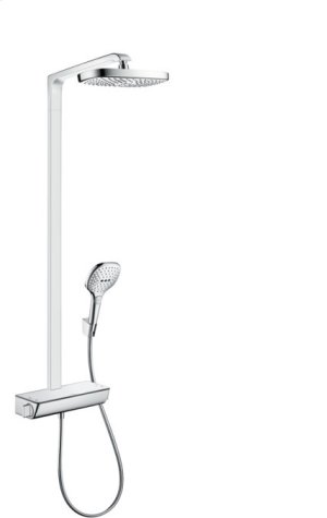 White/chrome Showerpipe 300 2-Jet, 2.0 GPM Product Image