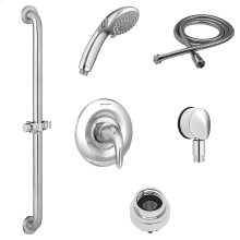 Commercial Shower System Kit with Slide Grab Bar and Hand Shower - 2.5 GPM  American Standard - Polished Chrome