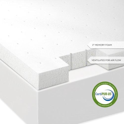 2 Inch Memory Foam Mattress Topper Twin