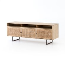 Natural Mango Finish Carmel Media Console