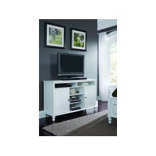 TV Stand in Beach White