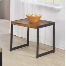 Rustic Antique Nutmeg End Table