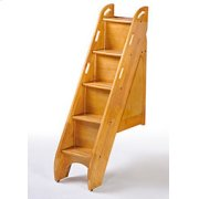 Bunk Bed Stairs in Medium Oak Finish Product Image