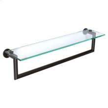 "Matte Black 24"" Shelf with Towel Bar"