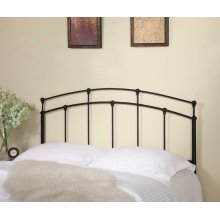 Traditional Black Metal Headboard With Spindles