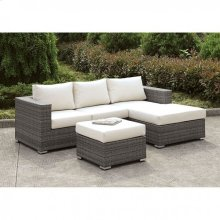 Somani Small L-sectional W/ Right Chaise + Ottoman