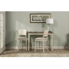 Clarion 3-piece Counter Height Side Dining Set With Open Back Stools - Distressed Gray Top With Sea