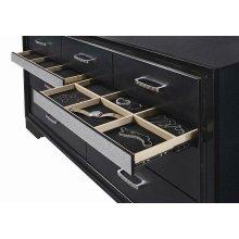 Miranda Transitional Black Seven-drawer Nightstand