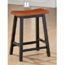 "24"" Bar Stool (Walnut/Black)"
