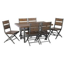 Hudson - Medium Brown 7 Piece Dining Room Set