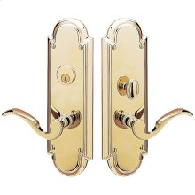 Lifetime Polished Brass Stanford Entrance Set