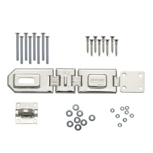 "Hasp  7-3/4"" Flexible Double-Hinge Steel Security Hasp - No Finish Product Image"