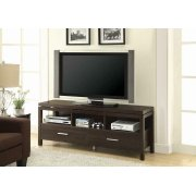 Transitional Dark Brown TV Console Product Image