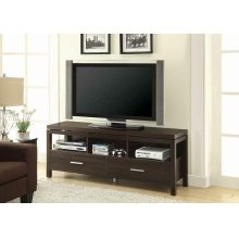Transitional Dark Brown TV Console