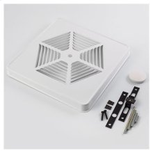 """Grille Kit, White Painted Steel for 8"""" fan units without switch hole"""