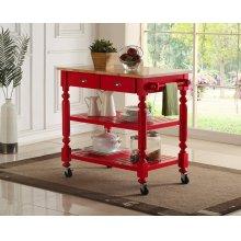 Payson Red Kitchen Cart