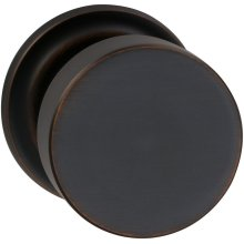 Interior Modern Knob Latchset with Traditional Round Rose in (TB Tuscan Bronze, Lacquered)