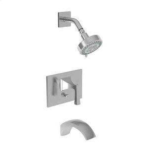 Aged Brass Balanced Pressure Tub & Shower Trim Set