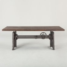 "Industrial Loft Dining Table 84"" Gray"