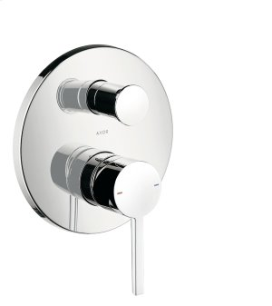 Chrome Single lever bath mixer for concealed installation with lever handle Product Image