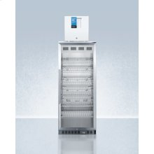 Compact Manual Defrost Fs24lpro All-freezer Stacked With 11 CU.FT. Pharmaceutical Refrigerator Acr1151pro, Both With Factory-installed Probe Holes