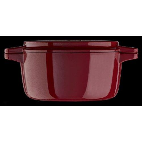Professional Cast Iron 4-Quart Casserole Empire Red