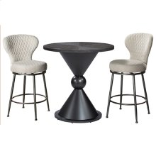 Melange 3-piece Counter Height Bistro Set With Upholstered Swivel Stools