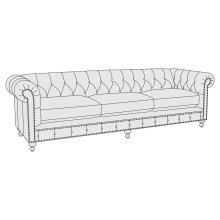 "London Club Sofa (92-1/2"") in Mocha (751)"