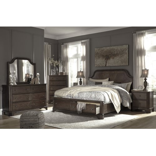 Adinton - Brown 3 Piece Bed Set (King)