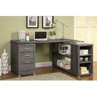 Yvette Weathered Grey Executive Desk Product Image