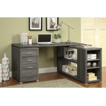Yvette Weathered Grey Executive Desk