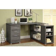 Yvette Weathered Grey Executive Desk