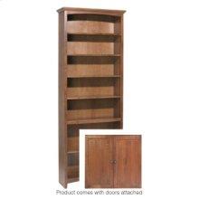 """GAC 84""""H x 30""""W McKenzie Alder Bookcase w/doors"""