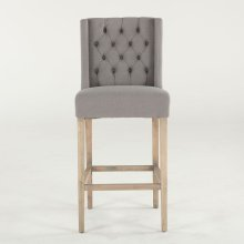 Lara Bar Chair Warm Gray with Napoleon Legs