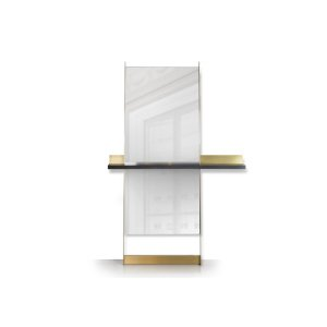 Edge leaning mirror