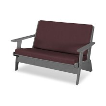Slate Grey & Cast Currant Riviera Modern Lounge Settee