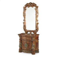 Bedside Chest & Decorative Mirror (2 Pc)