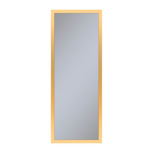"""Profiles 11-1/4"""" X 30"""" X 4"""" Framed Cabinet In Matte Gold With Electrical Outlet, Usb Charging Ports, Magnetic Storage Strip and Right Hinge"""
