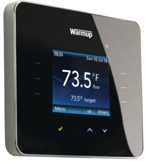 Warmup Touch-Technology Thermostat, 120V/240V programmable with sensor probe and Class A GFCI Protection Built-in - Choose color lens to customize décor: CREAM, PINK, GREEN, BLUE, BURGUNDY, SILVER. Product Image