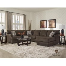 ALBANY 8622-63-02 2-Pc Surge Latte Sectional Sofa