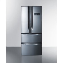Counter Depth Energy Star Certified French Door Refrigerator With Two Bottom Freezer Drawers In Stainless Steel Finish