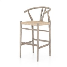 Bar Stool Size Weathered Grey Finish Muestra Bar + Counter Stool