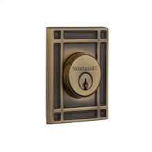 Nostalgic - Double Cylinder Deadbolt Keyed Differently - Mission in Antique Brass