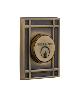 Nostalgic - Double Cylinder Deadbolt Keyed Differently - Mission in Antique Brass Product Image