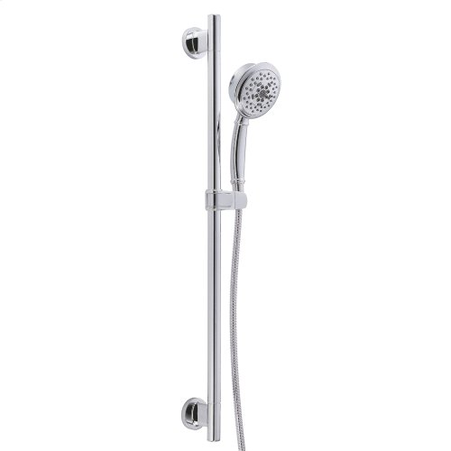 """Chrome Versa 30"""" Slide Bar Assembly with Surge® 5-Function Handshower, 1.75gpm"""