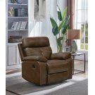 Damiano Brown Faux Leather Recliner Product Image