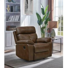 Damiano Brown Faux Leather Recliner